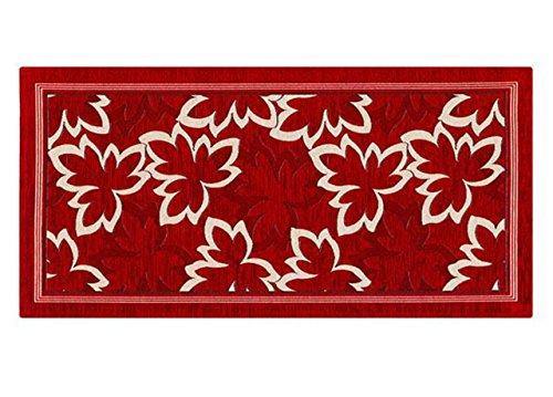BIANCHERIAWEB Tappeto Passatoia Runner Cucina Antiscivolo Antimacchia Lavabile Life Suardi 55x140 cm Rosso