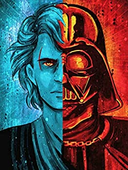Star Wars Diamond Painting Kits for Adults DIY 5D Full Drill Crystal Rhinestone Embroidery Painting for Kids Cross Stitch Pictures Craft Stickers for Home Wall Decor Gift 12x16 Inch Darth Vader