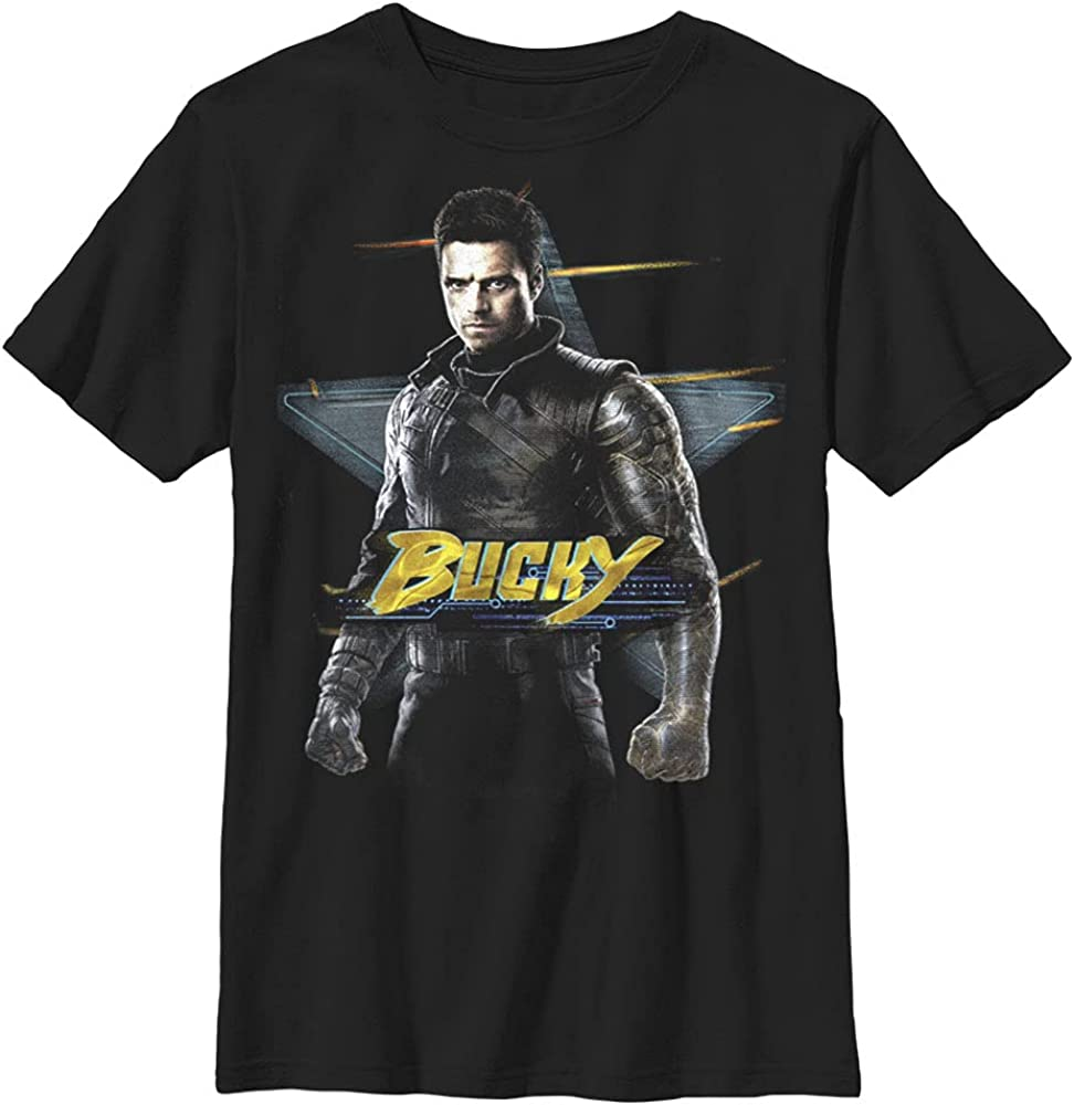 Marvel Likeness The Falcon and The Winter Soldier on The Run Boy's Premium Solid Crew Tee