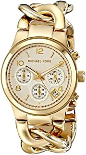 Michael Kors Runway Women's Champagne Dial Stainless Steel Band Watch - MK3131