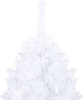 Susany Arbre de Noël Artificiel avec Branches épaisses,Sapin de Noël Artificiel renversé avec Support,Sapin de Noel,Tronc Ver