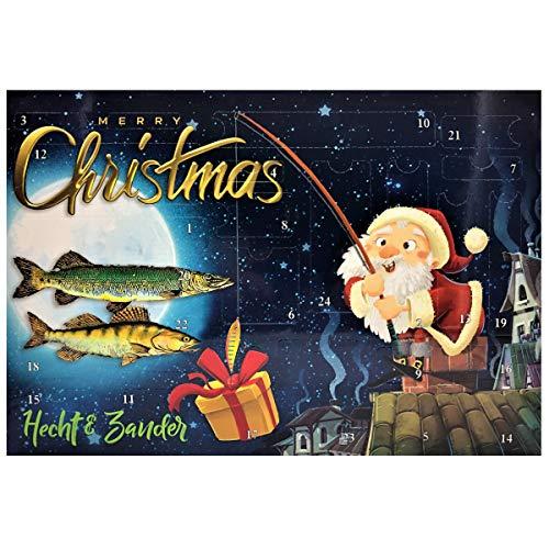 PALADIN Fishing Angler Adventskalender - Spinfischer Angel Weihnachtskalender - Raubfisch Advents Kalender (Hecht & Zander)