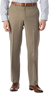 بناطيل رجالي من Ballin Modern Fit Dress Pants SOHO Comfort EZE Super 120's Gabardine ، أسمر بريطاني 35