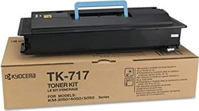 Kyocera 1T02GR0US0 Model TK-717 Black Toner Kit For use with Kyocera KM-3050, KM-4050, KM-5050, TASKalfa 420i and 520i A3 Monochrome Multifunctional Printers; Up to 34000 Pages Yield at 5% Coverage