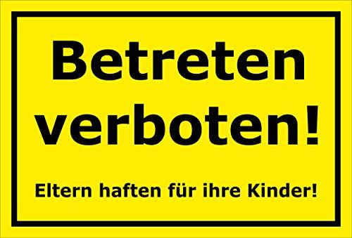 Melis Folienwerkstatt Schild - Betreten verboten - 30x20cm | Bohrlöcher | 3mm Aluverbund – S00080-106-C 20 VAR.
