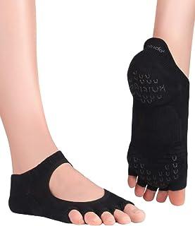 Kasumi, Calcetines de Yoga con Dedos Abiertos Antideslizantes