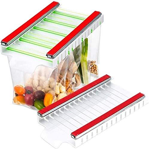 HHYSPA Estante De Almacenamiento Colgante para Bolsa De Alimentos para Refrigerador, Rackl para Bolsa De Mantenimiento Fresco para Refrigerador, Soporte para Almacenamiento Colgante para