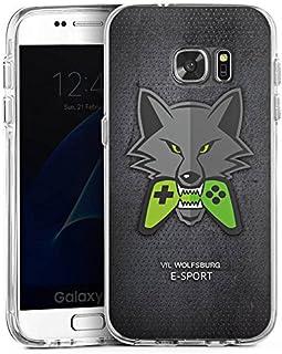 DeinDesign Samsung Galaxy S7 Bumper Hülle transparent Bumper Case Schutzhülle VFL Wolfsburg Esport Merchandise Fanartikel
