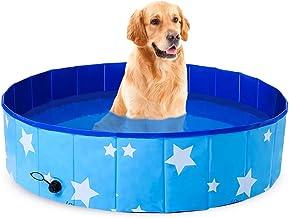FANKUTOYS Pet Swimming Pool,Paddling Pool for Dog,Portable Foldable Pet Pool Bathing Tub,Large Sized Outdoor PVC Swimming ...