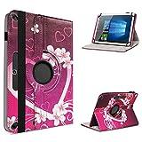 UC-Express Étui de protection rotatif à 360° pour tablette Acer Iconia One 10 B3-A40 Motif 8