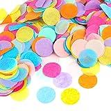 Kesote Multicolor Confeti de Papel de Forma Redonda 10000 Piezas de Decoración Confeti de 8 Colores para Boda, Cumpleaños, Fiesta …