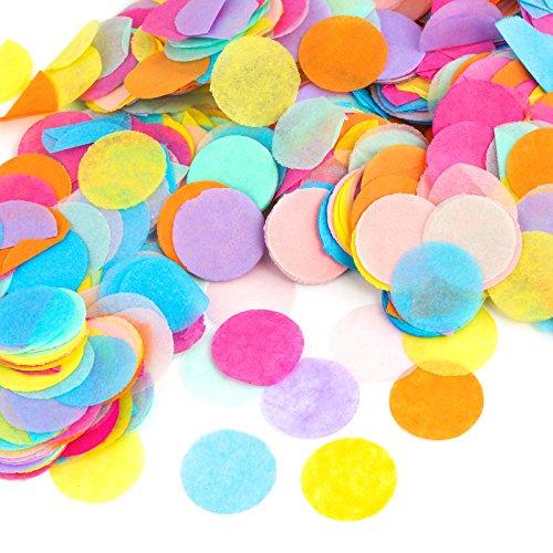 Kesote Multicolor Confeti de Papel de Forma Redonda 10000 Pi