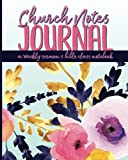 Church Notes Journal: A Weekly Sermon and Bible Class Notebook for Women (Pink with Purple Flowers Cover)