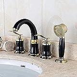 Rubinetto Rubinetto per bagno a 4 pezzi Rubinetto per lavabo caldo e freddo da appoggio Ru...