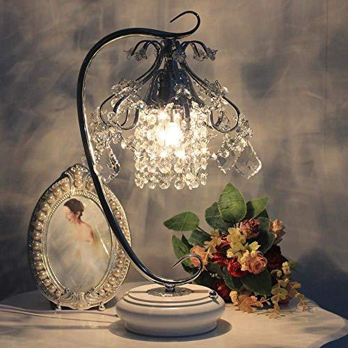 DEJ Modieuze K9 Crystal Led bureaulamp, Crystal Led Nachtlamp, met volledige K9 Crystal Design lampenkap, Metallic Lamp Bracket