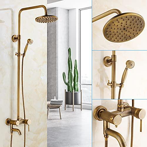 Système de douche, Rétro Colonne de Douche, Laiton...