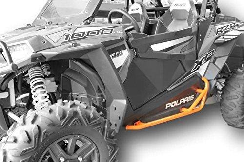 2014+ S 1000 Orange SuperATV Heavy Duty Rock Sliding Nerf Bars for Polaris RZR XP 1000