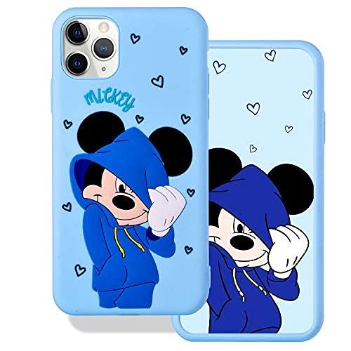Funda para iPhone 12 Pro Max 3D de dibujos animados Mickey Minnie Mouse Disney Animal Pattern Cover Cute Animal Soft Silicone Silicone Case con Amantes Case (Mickey Mouse, 12 Pro Max)