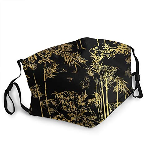Bamboo Bird Crane Tree Japanese Washable Reusable Safety Masks Protection from Dust Pollen Pet Dander Other Airborne