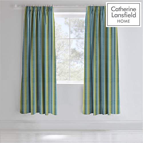 cortinas rayas azul