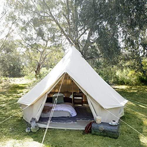 GFSDGF Tents Piso extraíble 4 Windows Lujo Al Aire Libre Al Aire Libre Al Aire Libre Al Aire Libre 6-8 Persona Cotton Lienzo Yurt Medium Bell Tienda