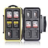 Ares Foto® Caja de protección • Almacenamiento de Tarjeta de Memoria para 12 SD y 12 Micro SD Tarjetas • Funda Guardar Porta Caja Bolsa • New Edition 2020