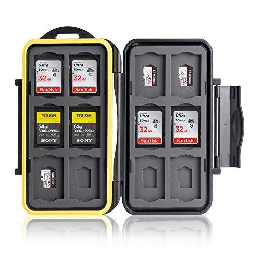 Ares Foto® Speicherkarten Schutzbox • Schutzhülle • Memory Card Case • Card Safe • Aufbewahrung & Transport für 12 SD und 12 Micro SD Karten - Neue Version 2021 (MC-SDMSD24 )