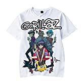 Logo Gorillaz Camiseta Camiseta de la Camiseta de Las Tapas Undershirt Camisa de Moda de Moda Deportiva Estilo del Hombre Salvaje y Ocasional de Las Mujeres Unisex (Color : A01, Size : S)