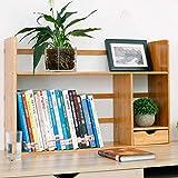 LWX Estante de Escritorio Simple con cajón Escritorio Creativo de Biblioteca para Estudiantes Estante de Madera Maciza Estantes de Escritorio-F 68x19x46cm (27x7x18)