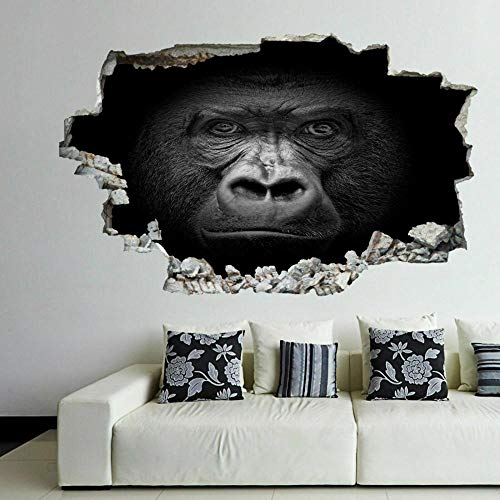 Gorilla 3D Wall Art Stickers Mural Decal Kids Bedroom Home Decor 60x90cm