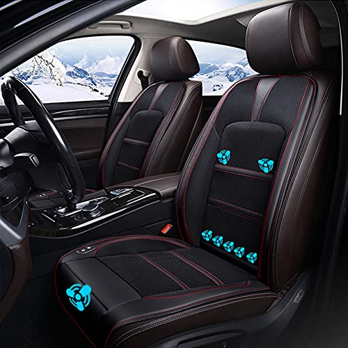 LUKUCEA 1 Pieza Cojines Refrigeración para Asiento de Coche con Aire Acondicionado Refrigeración Ventilador para Verano Protector Asiento Coche 12V-24V para Carro Camión SUV