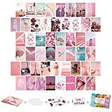 Wall Collage Kit Aesthetic Pictures, 50PCS 4x6 Inch, UnityStar Aesthetic Photo Wall Collage Kit Cute Room Decor for Teen Girls, VSCO Wall Images for Dorm Bedroom Décor