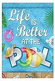 JuYiCk Life is Better at The Pool - Cartel de metal personalizado para decoración del hogar, regalo ...