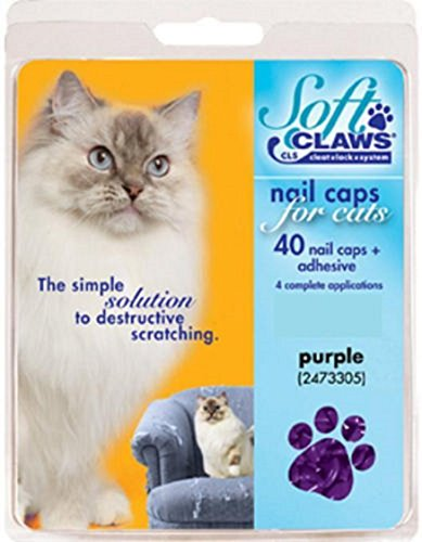 Soft Claws Nail Caps Medium Purple for Cats 9-13 lbs (NON CLS)