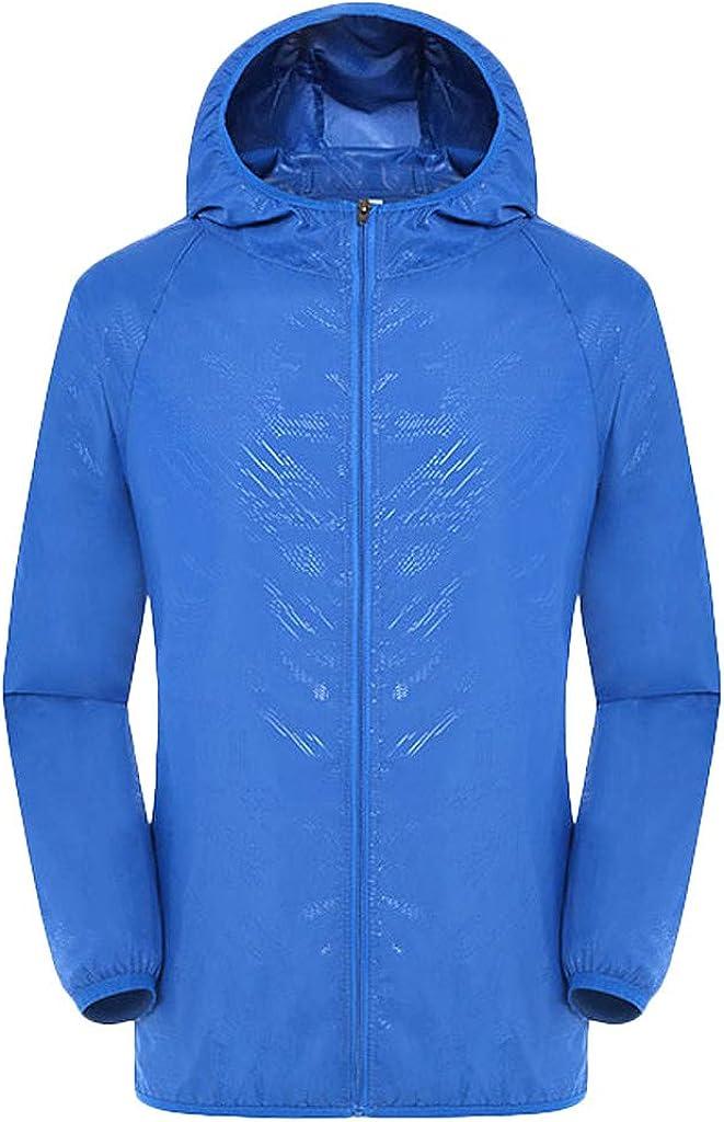 VEKDONE Mens Lightweight Windbreaker Jackets Windproof Rainproof Breathable Outdoor Sportswear Cycling Sun Protection