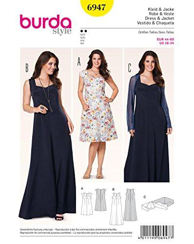 Burda Schnittmuster Kleid mit Bolero 6947