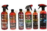 UTC 6 Pc Rebel Detail Wax Polish Chrome Leather Conditioner Interior & Exterior Spray w/Vanilla Scent Odor Neutralizer