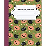 pumpkin and cats Composition Notebook: Halloween Wide Ruled, Gifts for Kids and Adults, pattern of pumpkin and cats