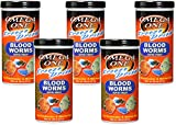 Omega One 5 Pack of Freeze Dried Blood Worms Fish Treat, 0.96oz Each