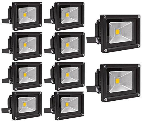 Leetop 10X 100W 50W 30W 20W 10W Super Brilliant 85-265V IP65 Waterproof Extérieur/Intérieur Spot LED Projecteur de Lumière d'inondation Blanc Froid(10 Watts)