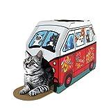 American Cat Club Retro Van Cat House & Scratcher w/ Catnip