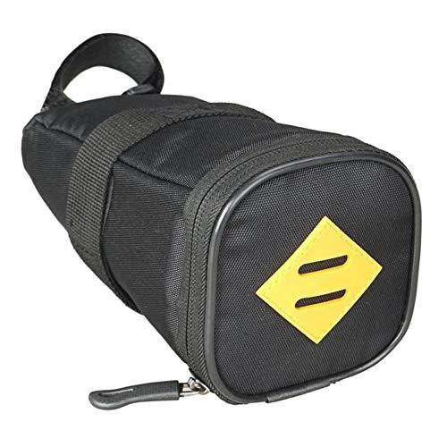 Bolsa de bicicleta Sillín de bicicleta de nylon impermeable del asiento de la bici Bolsa Bolsa de sillín de cola trasera de la bolsa del bolso con la cremallera aire libre que monta accesorios Bolsa d