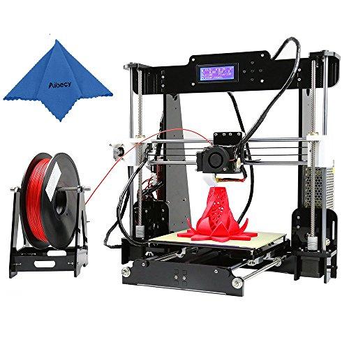 Anet A8 Upgrade 3D Drucker Desktop 3D Printer Reprap Prusa i3 DIY Kits Acryl Rahmen Druck Größe 220 * 220 * 240mm ABS / PLA / HIP / PP / Holz Filament mit 8GB & 1 Rolle PLA Filament
