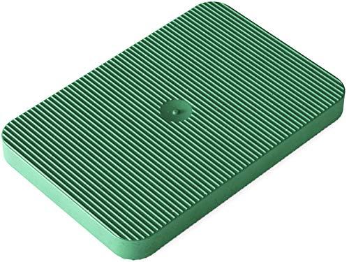 INNONEXXT® Premium Unterlegplatten | 60 x 40 mm, 5 mm grün - 250 Stk. | Abstandshalter, Plättchen aus Kunststoff, Distanzplatten, Klötze, Unterlegklotz, Distanzhalter | Tragfähigkeit bis 5 t