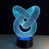 Bestes Nachtlichtgeschenk der abstrakten Lichthauptdekoration des Kreisliebesknotens...