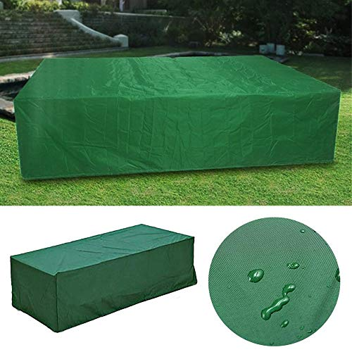 Fengbingl-hm Gartenmöbelbezug 210x140x80cm im Freien Wasserdichten Freizeitmöbel-Schutzüberzug for Tisch Bank Cube Garten (Farbe : Grün, Größe : B)