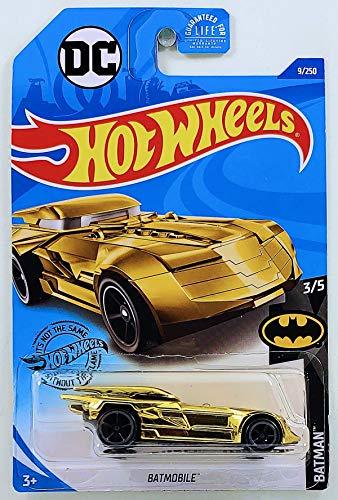 Hot Wheels 2020 Int'l Card DC Comics Batmobile 9/250 Batman Series 3/5 Vehículo de Juguete Fundido de Oro