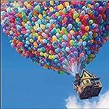 MeDnn Up - Globo volador de Pixar 5D para punto de cruz, diseño de mosaico de diamantes de imitación, decoración del hogar, regalo de amor de 30 x 40 cm