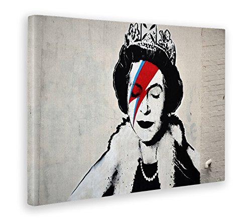 Giallobus - Quadro - Stampa su Tela Canvas - Banksy - Regina - 70 X 100 Cm