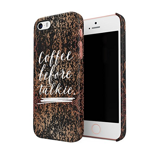 Coffee Before Talkie Hard Thin Plastic Phone Case Cover For iPhone 5 & iPhone 5s & iPhone SE